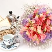 2色のスイトピーがガーリーな花束 送料無料!3