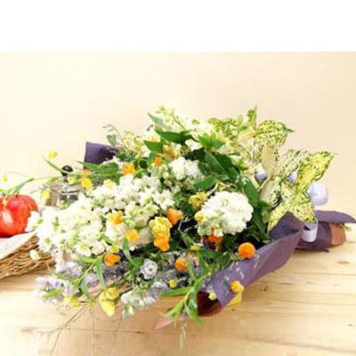 洋花を豪華にまとめた花束 送料無料!